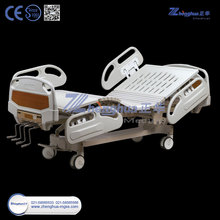 ZHF-HB403 ICU Five Function Electric Hospital Medical Bed With ABS Side Rail For Sale