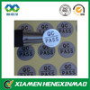Suppliers of sticker silver silver qc passed sticker