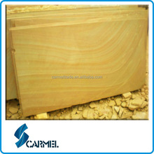 Chinese Yellow wooden wave sandstone for sale
