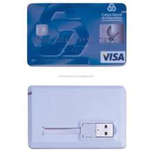 New style customed bank credit card shape usb flash drive