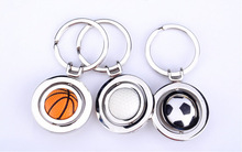 Creative metal key chain new zinc alloy key chain wholesale Creative Football/ basketball /golfball key ring
