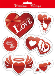 Lovers/Valentine style WALL DECALS STICKER and window clings