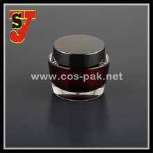 Empty cosmetic packaging acrylic jar, peal color