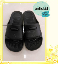 black plastic washable hotel slipper men