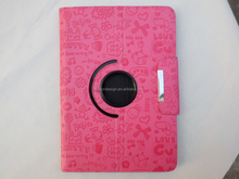 red PU 13.3 inch samsung galaxy mini tablet cover