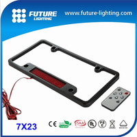 2015 led cheapest manufacturer fashionable decorative 7x23dots scrolling ir flash frame led license plate for car