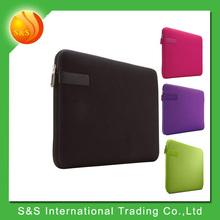 Custom printed 15.6 inch portable lightweight neoprene laptop sleeve