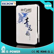most popular for samsung galaxy note3 portable charger famous brand mobile power bank 8000mah