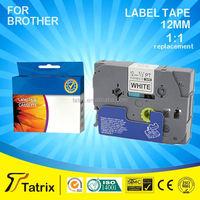 18mm TZ 241 P touch printer TZ lable tape/ribbon cartridge/18mm compatible label tape