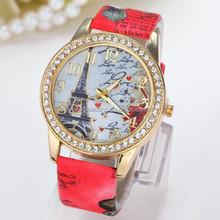 Geneva Rhinestone quartz stainless steel watch water resistant women watch