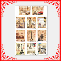 BLE1863-BLE1873 Popular Postage Stamp Style Nail Art Sticker Vintage Nail Stamp