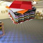 Vinyl travertine flooring for carport