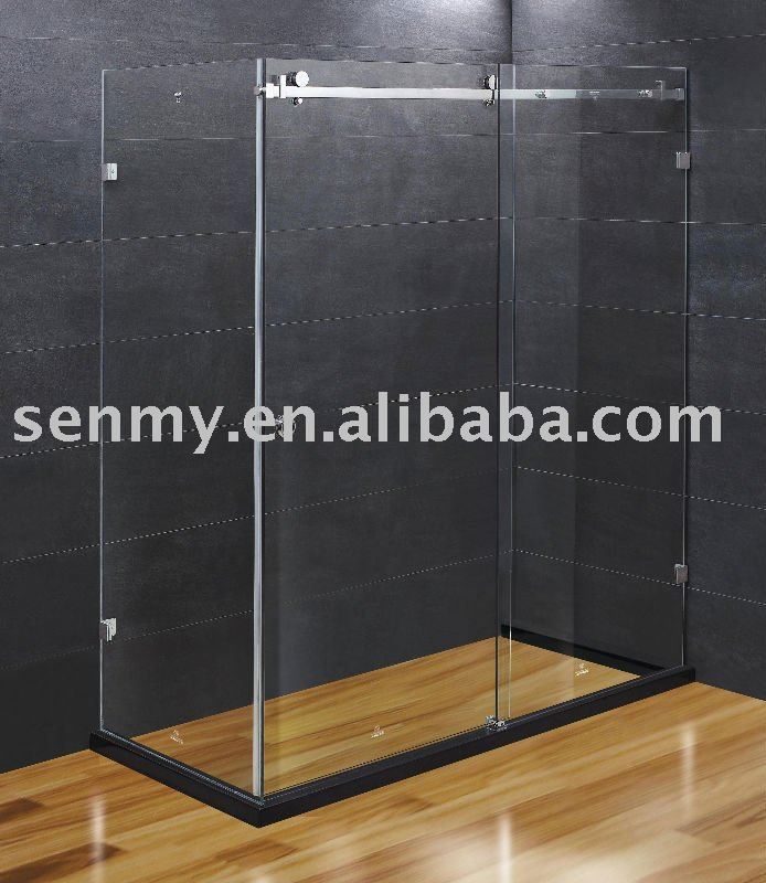 Di lusso cabina doccia senza telaio 10mm porta scorrevole - Doccia senza porta ...