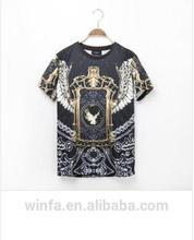 2014 elemento de moda 3d diferentes deimpresión especial nueva llegada t- shirt
