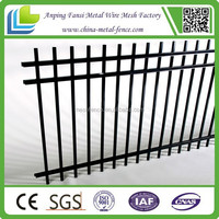 The Hoop and Spear interlocking wrought iron fence
