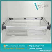Low price cabinet stainless steel wire magic corner drawer kitchen basket