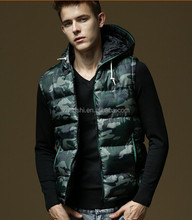 Winter Outer Wear Sleeveless Wasitcoat Down Duck Mens Vests With Hood