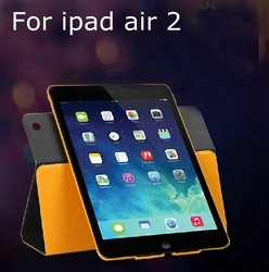 360 degree rotating stand magnetic leather case for ipad air2 swivel