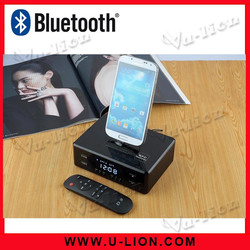 Home and Hotel Dock Station Bluetooth Alarm Speaker Support for Smartphone