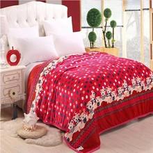 2014 new design flannel blanket wholesale bed sheet