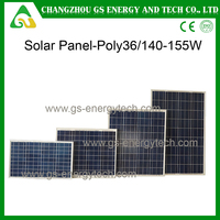 China made 72 pieces 250w poly stock solar panel 100W