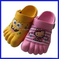 EVA clogs for kids, five figers clogs, beautiful EVA clogs shoes