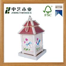 wholesale eco-friendly handmade small indoor decorative wooden bird houses