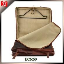 high quality genuine leather garment bag parts foldable garment bag for suit