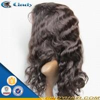 brazilian virgin body wave long black human hair fall wigs for bald women