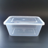 Rectangular Microwave Plastic Disposable Food Container