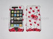 Red Cherry hard skin case faceplate for iphone 3GS,3G
