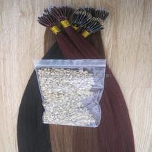 Wholesale 100% remy human hair extensions,nano ring hair