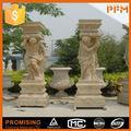 Villa jardín decoración natural de mármol tallada resumen esculturas estatua
