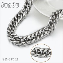 Mens jewelry twisted stainless steel heavy necklace chain