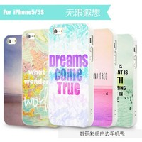 For iPhone 5 6 Customized Phone Case CMYK Digital Color Printing OEM Brand Logo Factory Made
