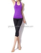 Purple Women Aerobics Pant Yoga Clothing Body Building sport wear