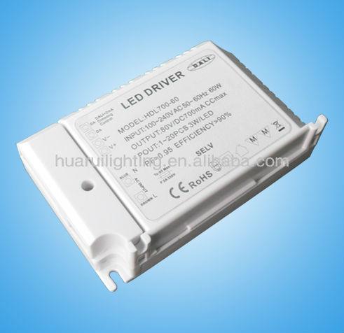 Comme MEANWELL pas - étanche Triac 70 W led pilote constants voltage12 / 24 V pour led haute puissance lampe led éclairage intérieur