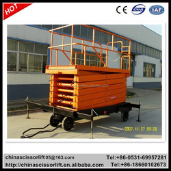 Electric hydraulic scissor lift, mobile lifting equipment, mechanical lifting devices