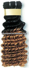 No Chemical Processed Two Tone Brazilian Hair Weft