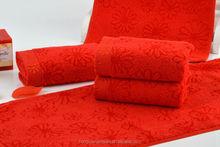 2015 Alibaba Red Wedding Bamboo Gift Towel