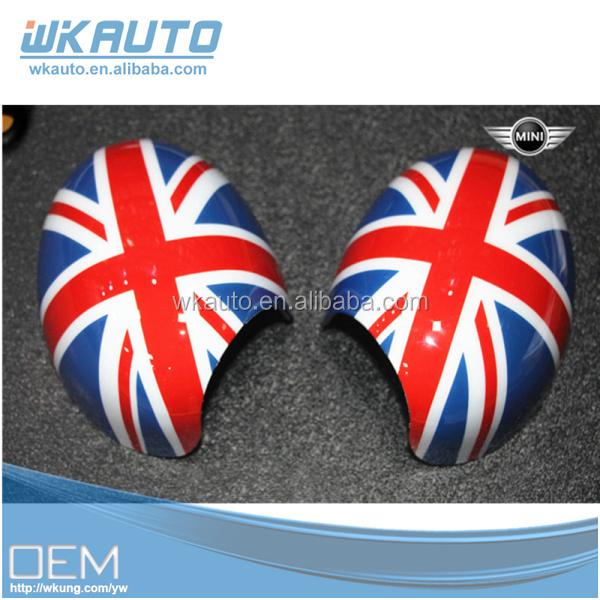 2016 de haute qualité en plastique couverture de miroir de voiture drapeau côté miroir drapeau couverture pour mini cooper décoration