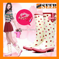 High quality love the style lace women rubber rain boot rain cover for shoes rain boot cover