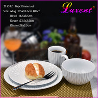 Chaozhou porcelain dinner plate 4pcs set dinnerware cup bowl plate