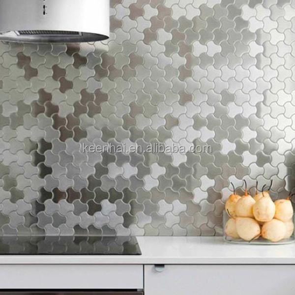 304 4x8 장식 스테인레스 스틸 주방 벽 장식 아이디어-벽지 또는 벽 ...