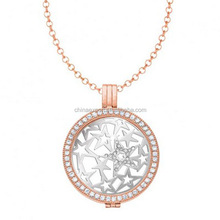 Jewelry costume 2015 new products Coin Locket Necklace