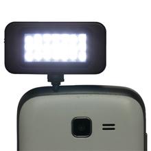 Cell phone camera micro light- fill night using enhancing flash light mini21 led speedlite