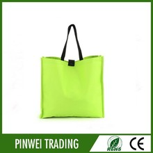 green color Shopping Bags Foldable Shopping Tote Reusable Eco Friendly Grocery Hadle Bag