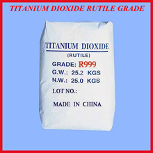 Titanium dioxide rutile for paint industry