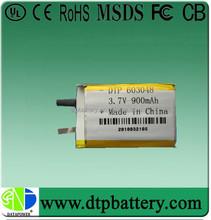 polymer li ion rechargeable battery cell 3.7v 900mah li-ion battery