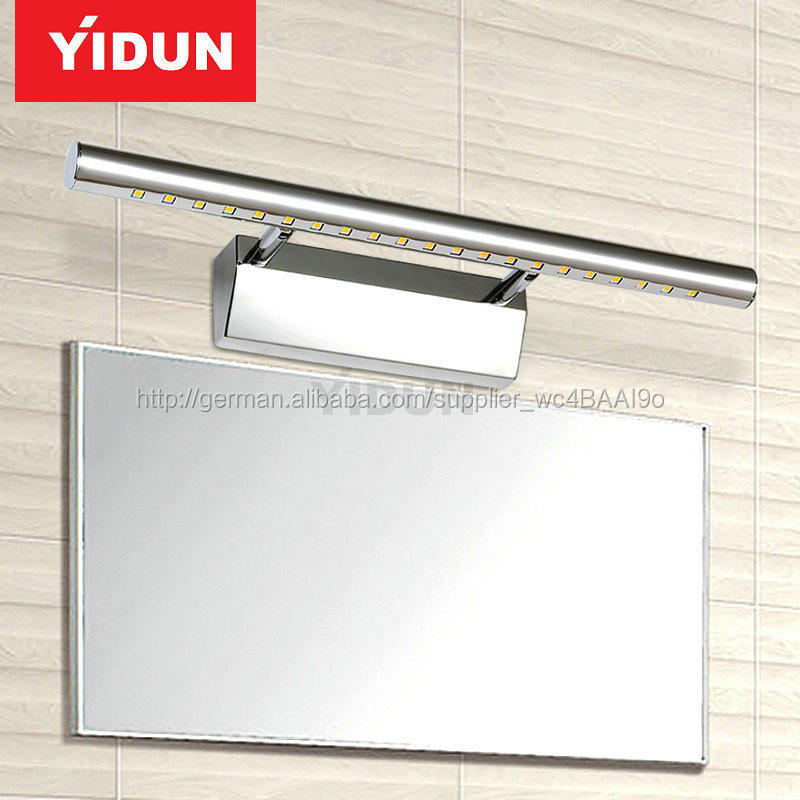 Edelstahl LED Badezimmerspiegel-Licht, LED-Lampen Spiegel-LED ...